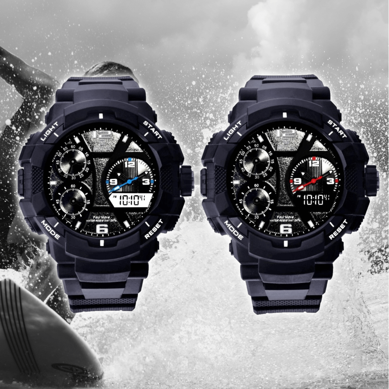 Dual Display Chronograaf Sportief T8073G